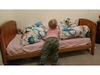 Toddler/cot bed with drawer, winnie the pooh