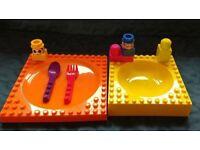 """Lego"" toddler feeding set"