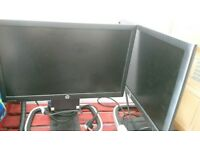Hp Pro display p201 20 inch monitors