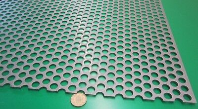 Perforated Straggered Steel Sheet .060 Thick X 36 X 40 .500 Hole Dia.