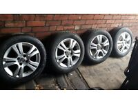 """Vauxhall Corsa D 15"""" original silver alloys with 4 excellent tyre"""