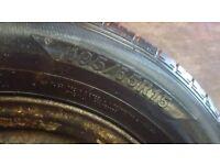2 steel wheels great tyres 195/65r15