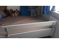 Ikea white wooden childrens bed rail