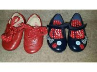 2 Pairs of Next Girls infant shoes: Size 5