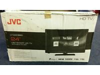 """JVC 24"""" LED smart wifi built in hd free view usb media player. Clear crystal picture."""