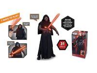 "Star Wars - BNIB Kylo Ren Animatronic Interactive Figure 17"""