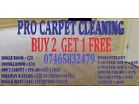Pro Carpet & Upholstery Cleaner. Any 3 carpet cleaned 50£