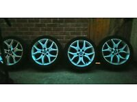 17 INCH ALLOYS AND TYRES, £65