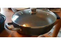 12 inch Meyer Tensl solid pan with lid