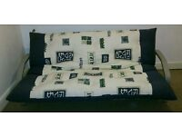 Double bed Futon / sofa bed with 2 adjustable back rest positions