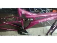FREE !! Bike frame 18 inch front and rear suspension - for spares