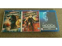 Riddick trilogy blu rays
