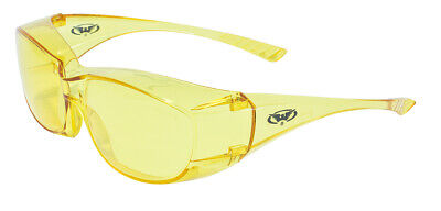 Global Vision Oversite Yellow Night Driving Fit Over Most Safety Glasses Z87