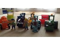 Bob the Builder moveable characters and vehicles, 11 items