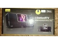 Brand new sealed i station RTV, Portable sound dock iphone 3/4 ipod