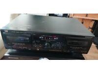 JVC W218 double cassette deck in good condition BL2