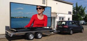 LED Wand Videowand mobil P6 2 x 4m mieten deutschlandweit, Werbewand, Videowall