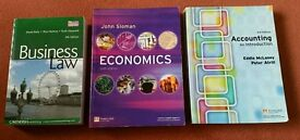 Various Business Textbooks (Law/Economics/Accounting)
