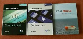 Contract Law Books (Jill Poole) and Legal Skills book