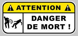 DANGER DE MORT FUN BOOST JDM AUTOCOLLANT STICKER 120mmX55mm (DA138)