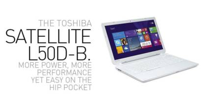 "Toshiba L50D-B018 AMDA6-5200 4 Core/4GB/750GB/15.6""LED/DVD/Win8.1 Hornsby Hornsby Area Preview"