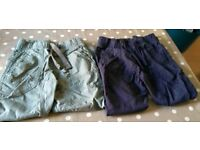Two pairs of M&S trousers aged 6-7 years