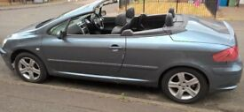 PEUGEOT 307 CONVERTIBLE,, MOT TILL MAY 2019,, ALLOY WHEELS,, LEATHER INTERRIOR,, REVERSE SENSOR