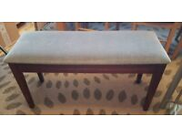 Vintage Double Piano Stool with Storage