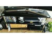 Selling used glass TVstand black in very good condition - bargain!