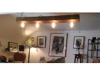 Reclaimed wooden Beam Light Fitting