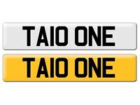 TAIO ONE CHERISHED / PRIVATE NUMBER PLATE