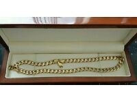 9k gold 22 inch gold curb chain 77g
