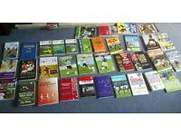 Football Coaching/Training Books x 35 in Pristine Cond