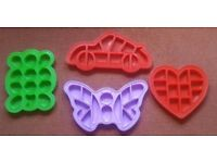 50 X extra large Silicon Jigsaw Cake moulds in various designs