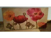 large floral canvas print