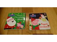 Peppa pig Christmas 2 books NEW