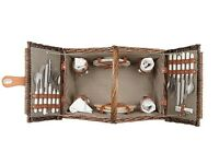 John Lewis Croft Collection Filled Picnic Basket [4 Person]