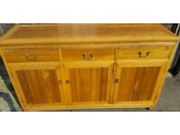 Beautiful sideboard in Yew wood. BRIGHTS OF NETTLEBED.