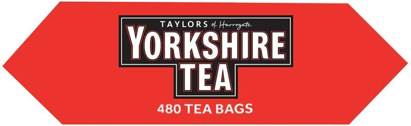Taylor's Yorkshire Tea 480 Teabags 1.5kg Assam & African Proper Brew 1 Cup Bags