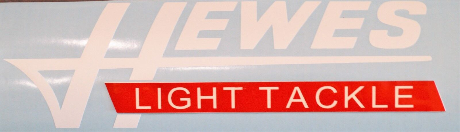 1 Hewes Light Tackle Vinyl Boat Decal White Red Sticker Logo Car Truck Window