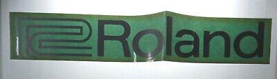 ROLAND VTG 1980s Original Unused Authorized Dealer Decal Sticker For Glass RARE