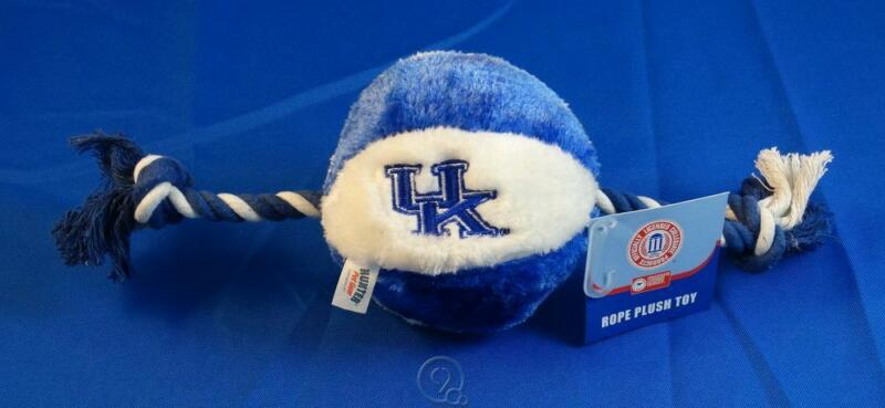 University Kentucky Wildcats UK Soft Plush Basketball Squeaky Rope Dog Chew Toy