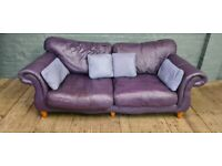 DESIGNER REAL LEATHER SOFA VERY NICE SMART VERY COMFY