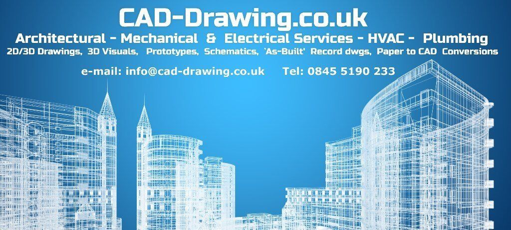 cad drawing services, cad drafting, cad services, 2d & 3d cad, all uk at  low cost :-) | in westminster, london | gumtree