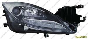 Head Lamp Passenger Side Xenon High Quality Mazda 6 2011-2013