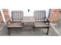 LOVELY WOODEN LOVE SEAT/BENCH