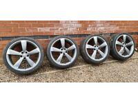 "Genuine Audi Rotor 20"" Alloy Wheels Pirelli Tyres 4G0601025BP A4 A5 A6 A7 A8"