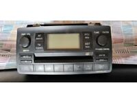 A standard Toyota CD radio player