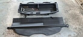 Mazda 5 parcel shelf, boot storage with tools, roof bars with cycle rack