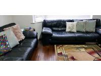 Leather sofa - 4 seater and 3 seater sofa